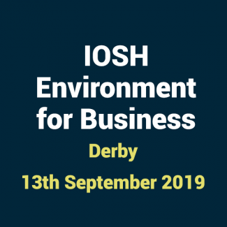 2019 09 13 IOSHH Environment for Business Training Course in Derby